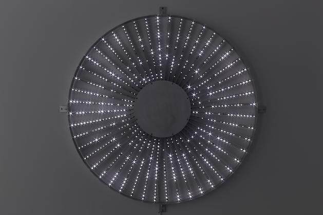 Star, 2008 White LEDs, metal armature, custom software, electrical hardware 60 x 60 x 4 inches Edition of 3