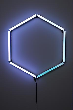 Monohex, 2008 LEDs, custom software, electrical hardware 50 x 46 x 4 inches Edition of 5