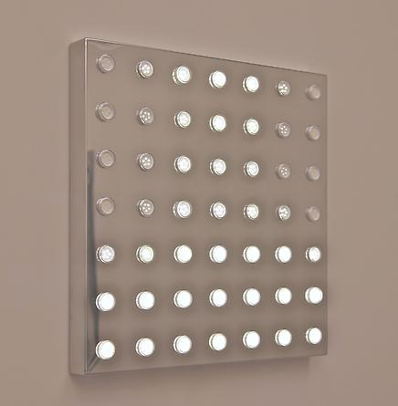 Diamond Sea (7x7), 2009 Mirror-finished stainless steel, aluminum, white LEDs, custom software, electrical hardware 21 x 21 x 2 inches Edition of 5