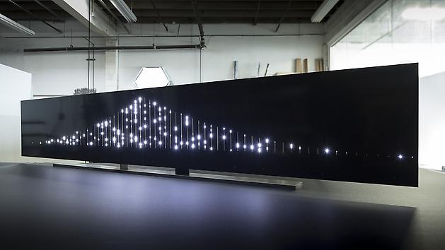 The Bay Lights (edition), 2013 LEDs, printed circuit board, custom software, electrical hardware 10 x 72 inches Edition of 30