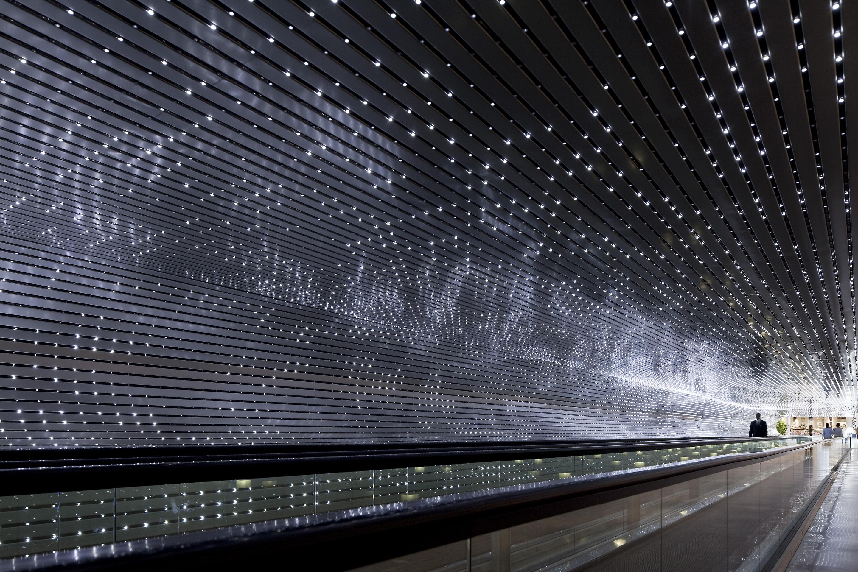 Multiverse, 2008  Site specific installation: National Gallery of Art, Washington, D.C. White LEDs, custom software, electrical hardware