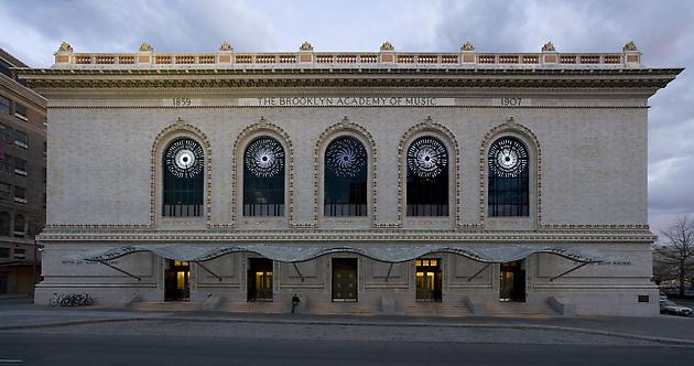 Stars, 2007 Site specific installation: Brooklyn Academy of Music, NY White LEDs, aluminum, custom software, electrical hardware 5 units: each 140 x 140 x 4 inches