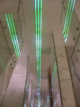 Untitled, 2006 Site specific installation: Kirkpatrick & Lockhart LLC, Washington, D.C. LEDs, custom software, electrical hardware 72 x 1 feet
