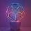 LEO VILLAREAL Buckyball, 2015 LEDs, custom software, electrical hardware, base 29 x 19 3/4 x 19 3/4 inches edition of 8 SGI2853