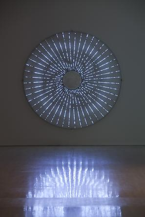 Star, 2008 White LEDs, metal armature, custom software, electrical hardware 102 x 102 x 4 inches Edition of 3