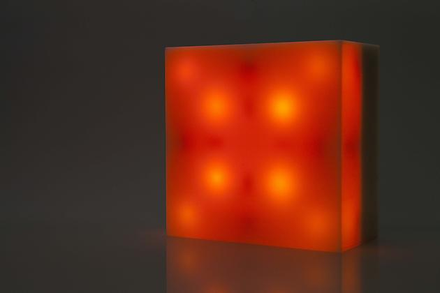 Bulbox 1.0, 2000 Plexiglass, wood, incandescent light bulbs, custom software, electrical hardware 12 x 12 x 6 inches Edition of 25