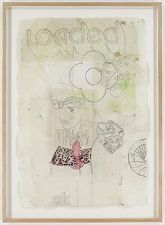 Loaded Flower, 2007 Mixed media on paper 39 x 27 inches GLG1730