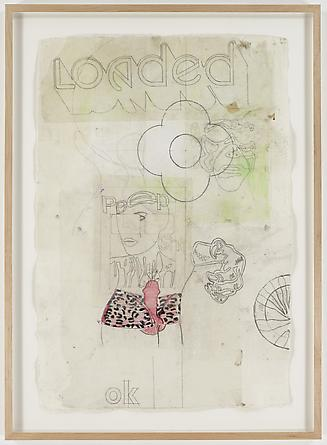 radio amnesia pt 2: a survey of works on paper 1997-2013 Michael Bevilacqua Loaded Flower, 2007 Mixed media on paper 39 x 27 inches GLG1730