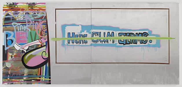 MICHAEL BEVILACQUA Adrenochrome (HCG), 2011 Acrylic & spray paint on linen 65 x 140 inches