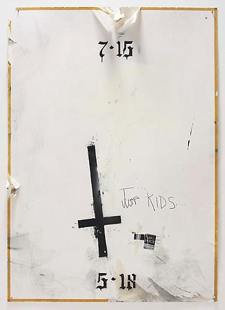 Just Kids, 2011 Acrylic, spray paint & collage on paper board 72 x 50 inches GLG2090