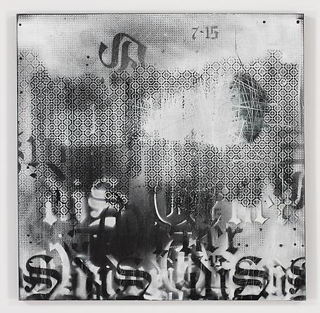 Mysterium Inquitatus, 2012 Acrylic spray paint on canvas 36 x 36 inches GLG2171