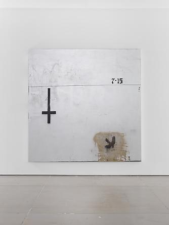 Trinity, 2012 Acrylic & spray paint on canvas 84 x 84 inches
