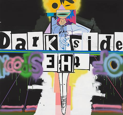 Dark Side of the Spoon, 2010 Acrylic & spray paint on linen 65 x 70 inches GLG2256