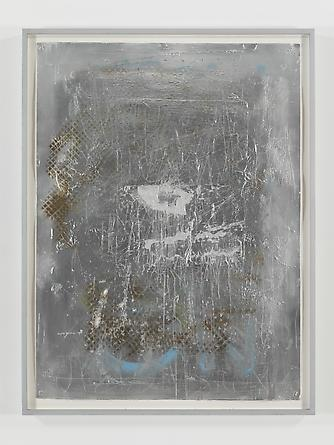 Be A Body (after Fontana), 2012 Acrylic spray paint on paper 46 3/4 x 34 3/4 inches GLG2469