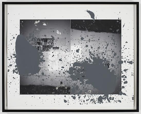 Grey Ghost IV, 2008 Acrylic & digital print on paper 32 x 40 inches GLG967