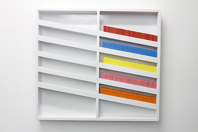 Untitled (Flowchart), 2013 Wood, paint, acrylic plastic 31 x 24 x 4 inches SGI2497