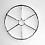 Wheel, 2012 Galvanized steel 28 x 28 x 1 1/2 inches GLG2502