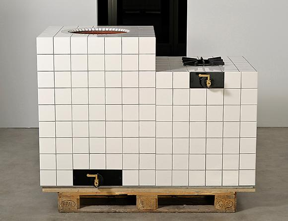 Islamabad, 2010 Tandoor oven, tile, steel, gas fittings, insulation & pallet 64 x 34 x 41 inches GLG2505