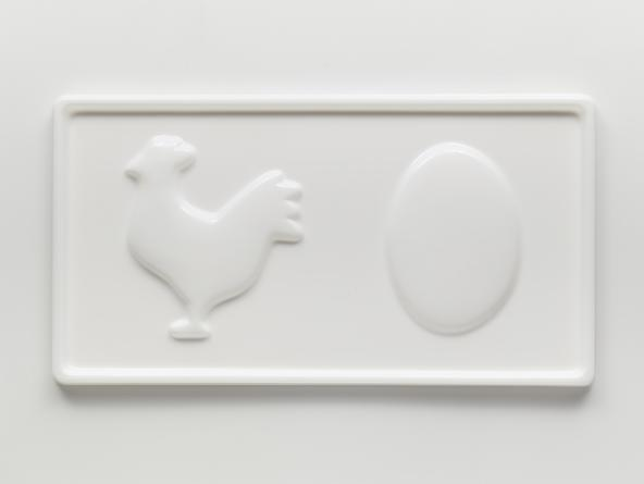 Chicken/Egg, 2013 Vacuum-formed plastic 17 x 32 x 1 inches Edition of 20 SGI2501