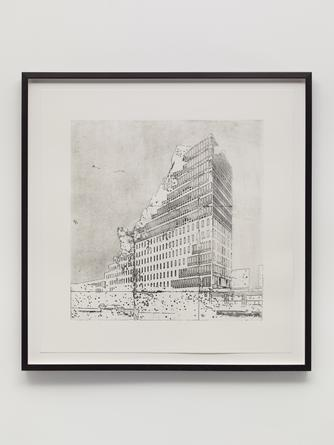 Building #2, 2014 Etching on Arches En-Tout-Cas 32 x 32 inches Edition of 5 SGI2795