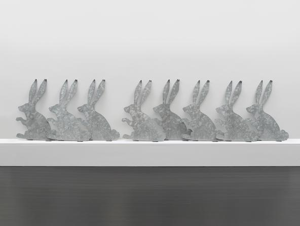Rabbits (Galvanizing), 2013 Galvanized steel in 8 parts 22 x 176 x 2 1/2 inches SGI2796