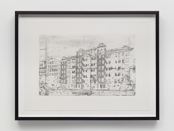 Building #3, 2014 Etching on Arches En-Tout-Cas 20 x 27 1/2 inches Edition of 5 SGI2799