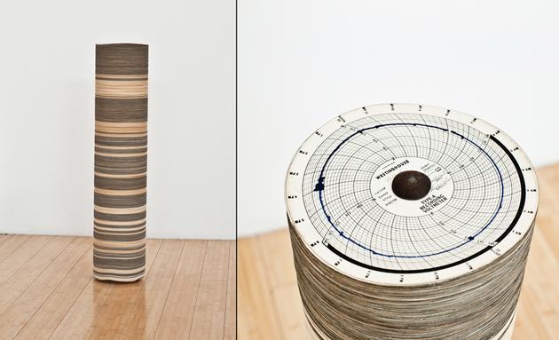 Marfa Voltmeter, 2010 Paper graphs, steel 32 x 8 8 8 inches SGI2805