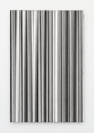 Untitled, (#59), 2015 enamel on canvas 48 x 32 inches