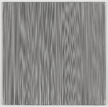 Untitled 11-03, 2003 Enamel on aluminum 15 x 15 inches GLG1185