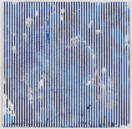 """Untitled (1-2011, 1/6""""-1/6""""), 2011 Enamel on aluminum 17 x 17 inches GLG1738"""