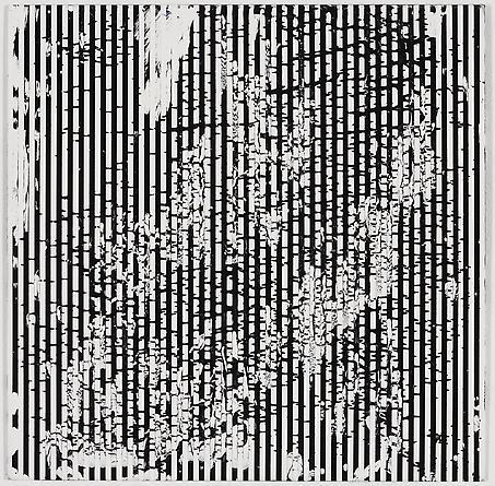 """Untitled (1-2011, 1/5""""-1/5""""), 2011 Enamel on aluminum 17 x 17 inches GLG1741"""