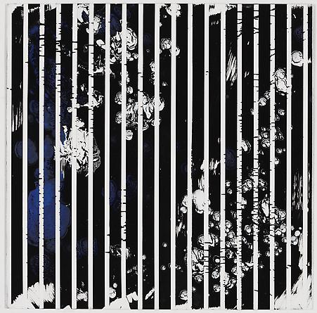 "Untitled (1-2011, 8/12""-3/12""), 2011 Enamel on aluminum 17 x 17 inches GLG1783"