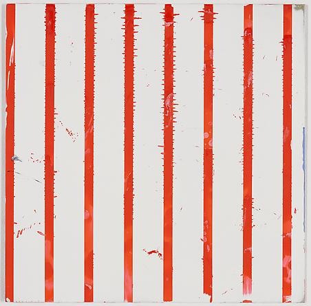 "Untitled (1-2011, 1/2""-2 1/4""), 2011 Enamel on aluminum 17 x 17 inches GLG1784"