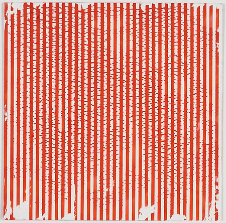 "Untitled (1-2011, 1/4""-1/4""), 2011 Enamel on aluminum 17 x 17 inches GLG1785"