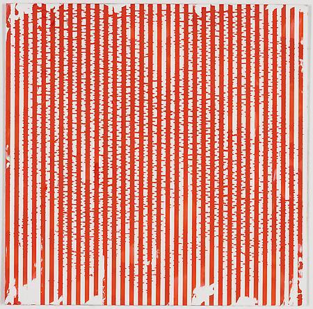 """Untitled (1-2011, 1/4""""-1/4""""), 2011 Enamel on aluminum 17 x 17 inches GLG1785"""