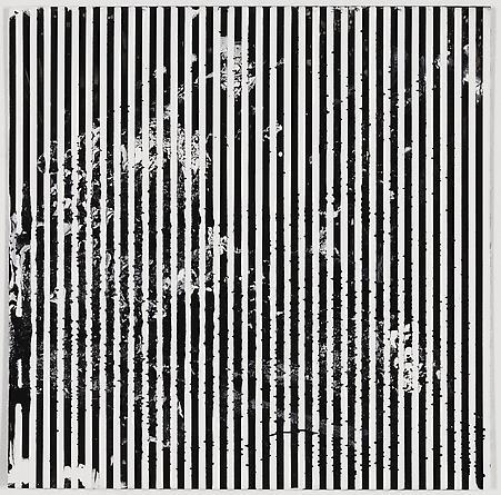 """Untitled (1-2011, 1/4""""-1/4""""), 2011 Enamel on aluminum 17 x 17 inches GLG1787"""
