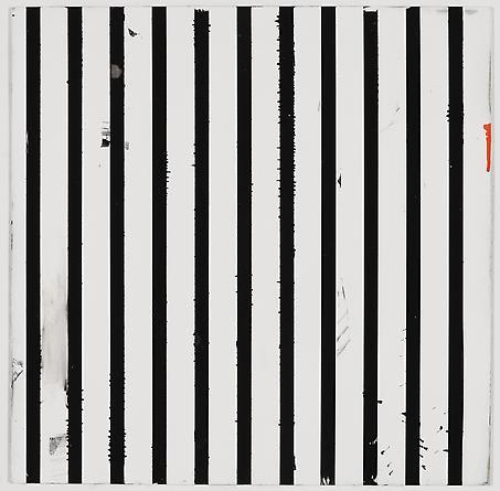 """Untitled (1-2011, 1/2""""-1""""), 2011 Enamel on aluminum 17 x 17 inches GLG1788"""