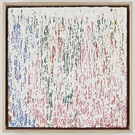 Untitled (4-08), 2008 Encaustic on wood, framed 19 1/2 x 19 1/2 inches, framed GLG779