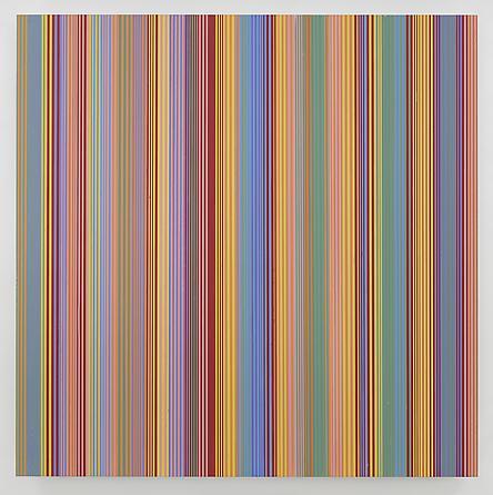 MICHAEL SCOTT Untitled #104, 2014 Enamel on aluminum 63 x 63 inches SGI2712