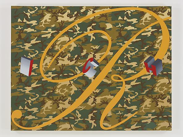 RICH, 1989 Acrylic on canvas 70 x 90 inches GLG2411