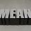 ME, MAN, MEN, MEAN, 1987 Laminate on wood 17 1/4 x 56 1/4 x 25 1/8 inches GLG2414