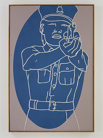 Lady Cop, 1982 Acrylic on canvas 72 x 48 inches GLG2416
