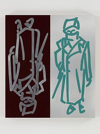 War Boy, 1983 Aluminum, laminate, wood & paint 62 1/2 x 55 x 5 inches GLG2418