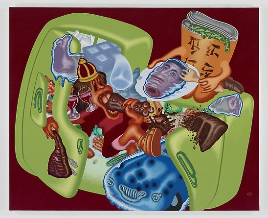 PETER SAUL Deadly Diet, 2011 Acrylic & oil paint on canvas 87 x 96 inches