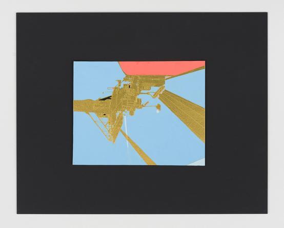Beam of Light 2 OB, 2015 Acrylic & gouache on foil, mounted on cardboard 16 x 20 inches SGI2958