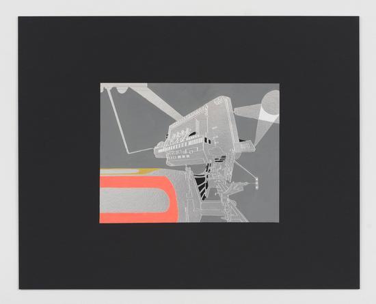 Beam of Light 1 OG, 2015 Acrylic & gouache on foil, mounted on cardboard 16 x 20 inches SGI2960
