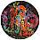 RYAN McGINNESS Secret Sorrow, 2011 Oil & acrylic on wood panel 48 inches diameter