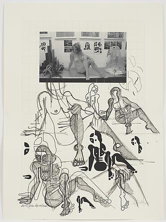 Women Sketch Process (Zelina Studio NYC Nov. 11th 2011), 2012 Ink on custom graph paper 30 x 22 inches GLG2166