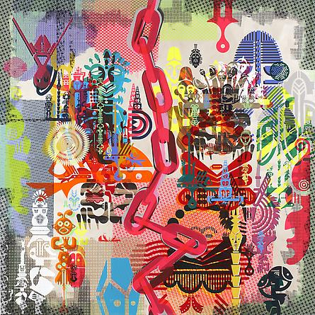RYAN McGINNESS Geometric Primitives (Painting #9), 2012 Acrylic on canvas 72 x 72 inches