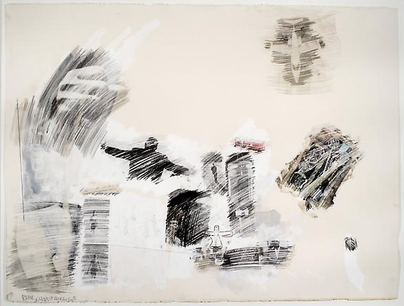 ROBERT RAUSCHENBERG Apology, 1968  Watercolor, graphite, gouache & solvent transfer on paper 22 ½ x 30 inches